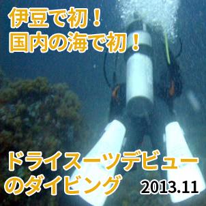 11/3 伊豆で初!国内の海で初!ドライスーツデビューのダイビング