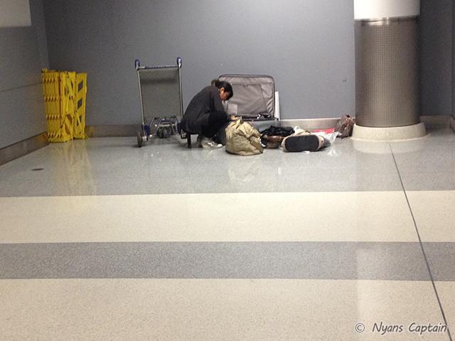 スーツケースの中の整理
