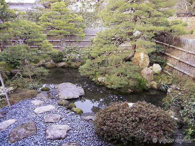 北側のお庭